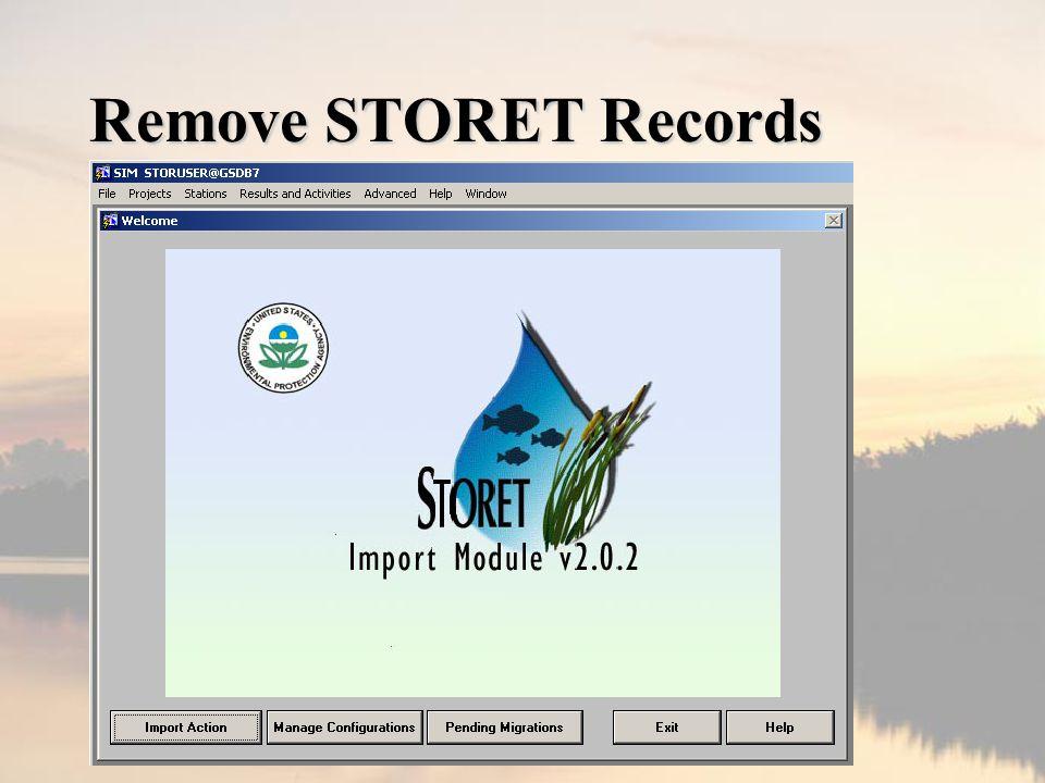 Remove STORET Records