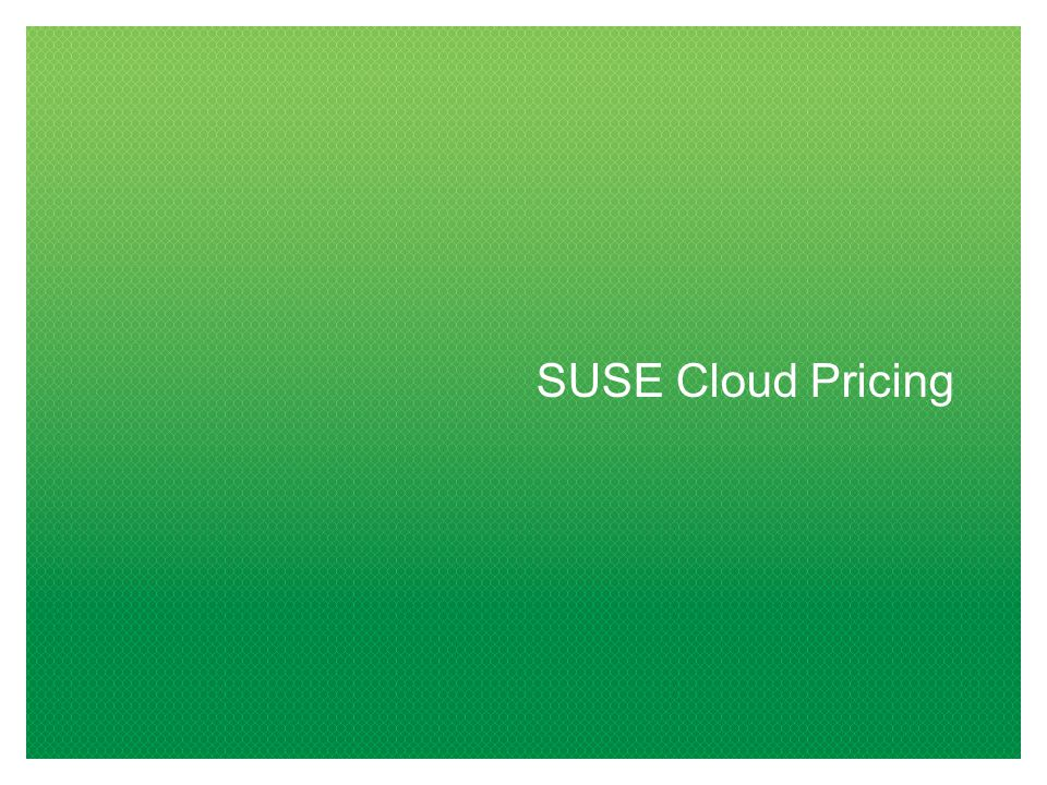 SUSE Cloud Pricing