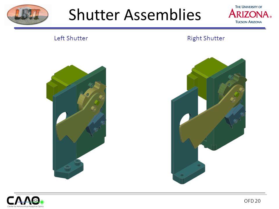 OFD 20 Shutter Assemblies Left ShutterRight Shutter