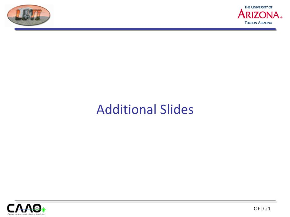 OFD 21 Additional Slides