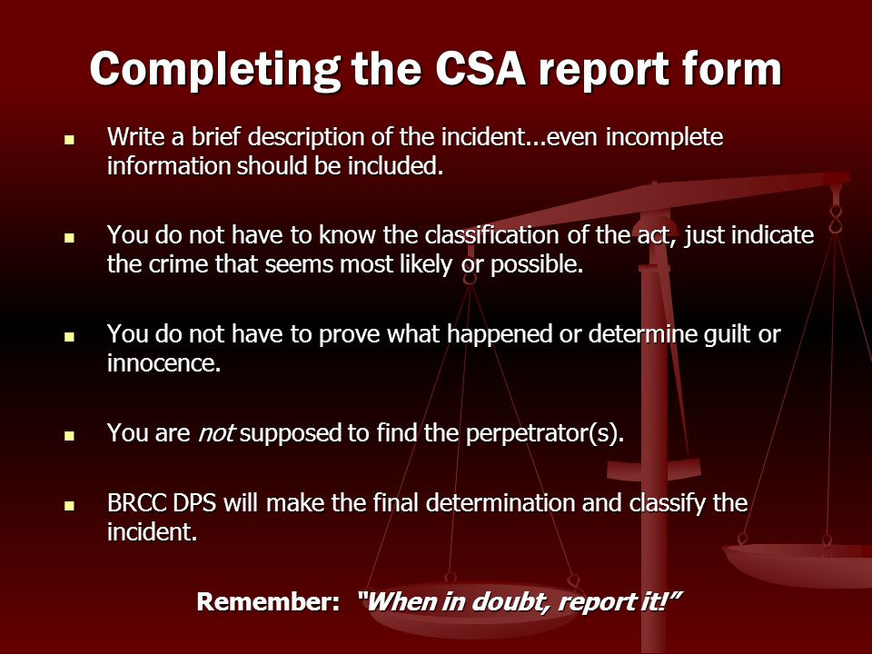 Write a brief description of the incident...even incomplete information should be included. Write a brief description of the incident...even incomplet