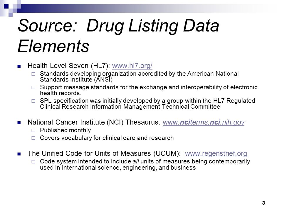 14 Content of Labeling Requirement Health Level Seven (HL7) Structured Product Labeling (SPL) in XML to be the only acceptable presentation in electronic format for the submission of content of labeling  CDER: In Effect (October 31, 2005)  CBER: beginning October 15, 2008 Applies to the content of labeling with original submissions, supplements, and annual reports.