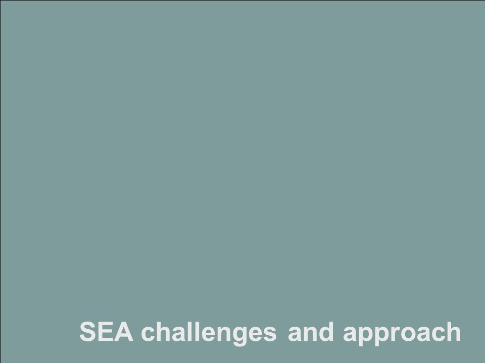 Strategic Environmental Assessment of Scotland's Climate Change Adaptation Framework www.landuse.co.uk SEA challenges and approach