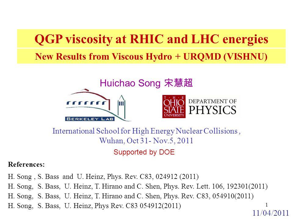 V 2 (P T ) at RHIC and LHC Assuming const.