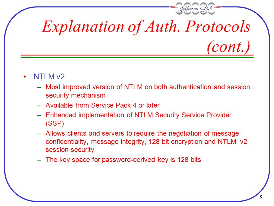 5 Explanation of Auth.