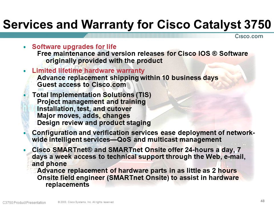 48 © 2003, Cisco Systems, Inc. All rights reserved.