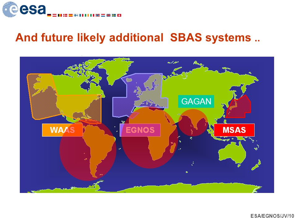 ESA/EGNOS/JV/10 And future likely additional SBAS systems.. GAGAN
