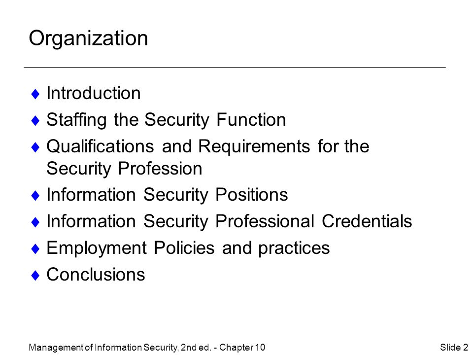 Management of Information Security, 2nd ed.