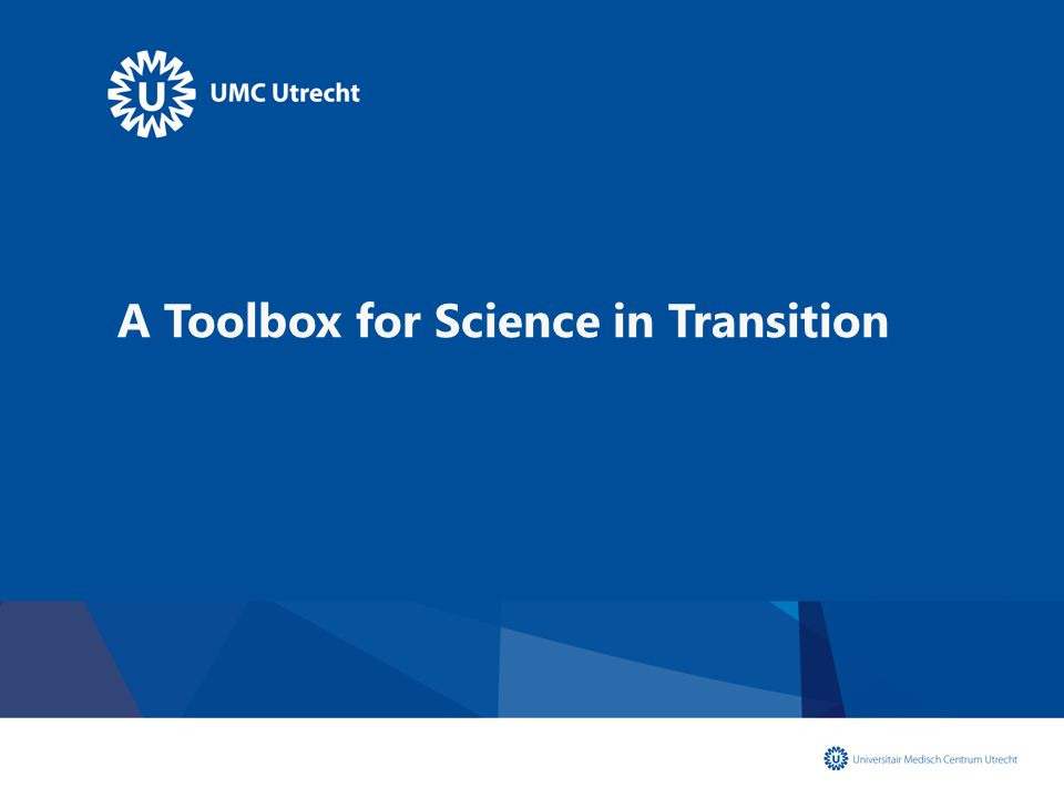 A Toolbox for Science in Transition