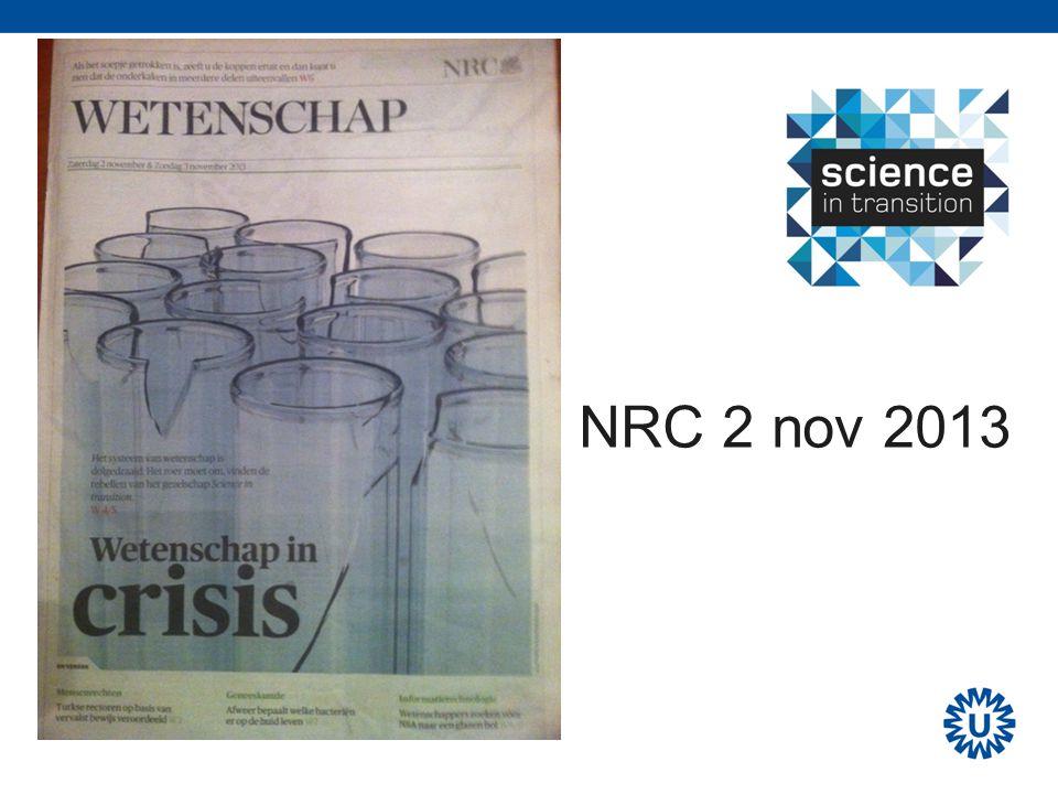 Cycles of Credit ' Volkskrant 9 Nov 2013
