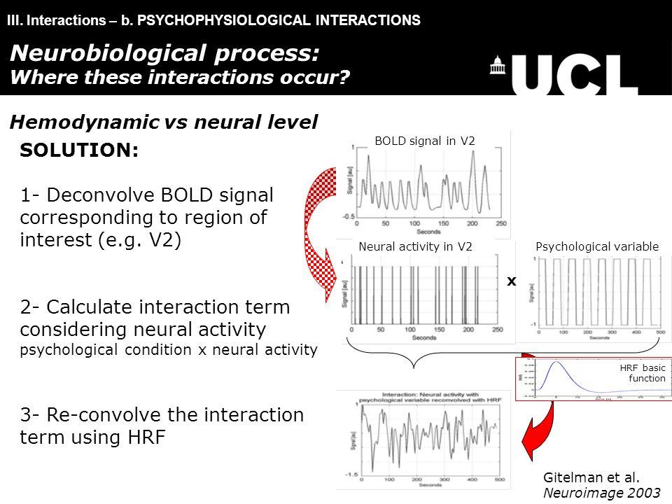 III. Interactions – b.