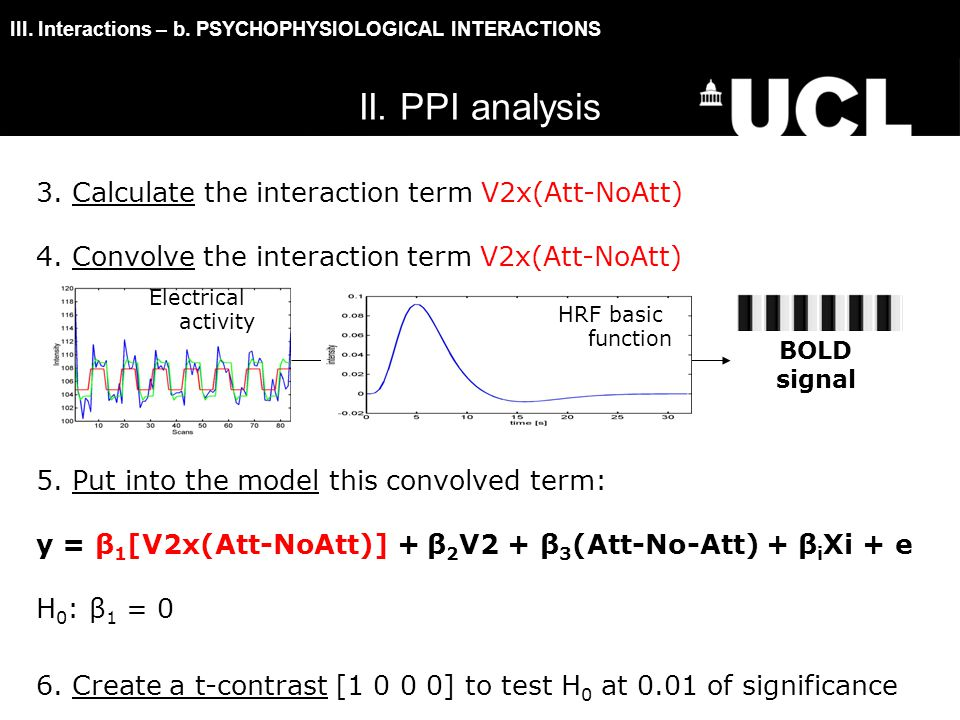 III.Interactions – b. PSYCHOPHYSIOLOGICAL INTERACTIONS 3.