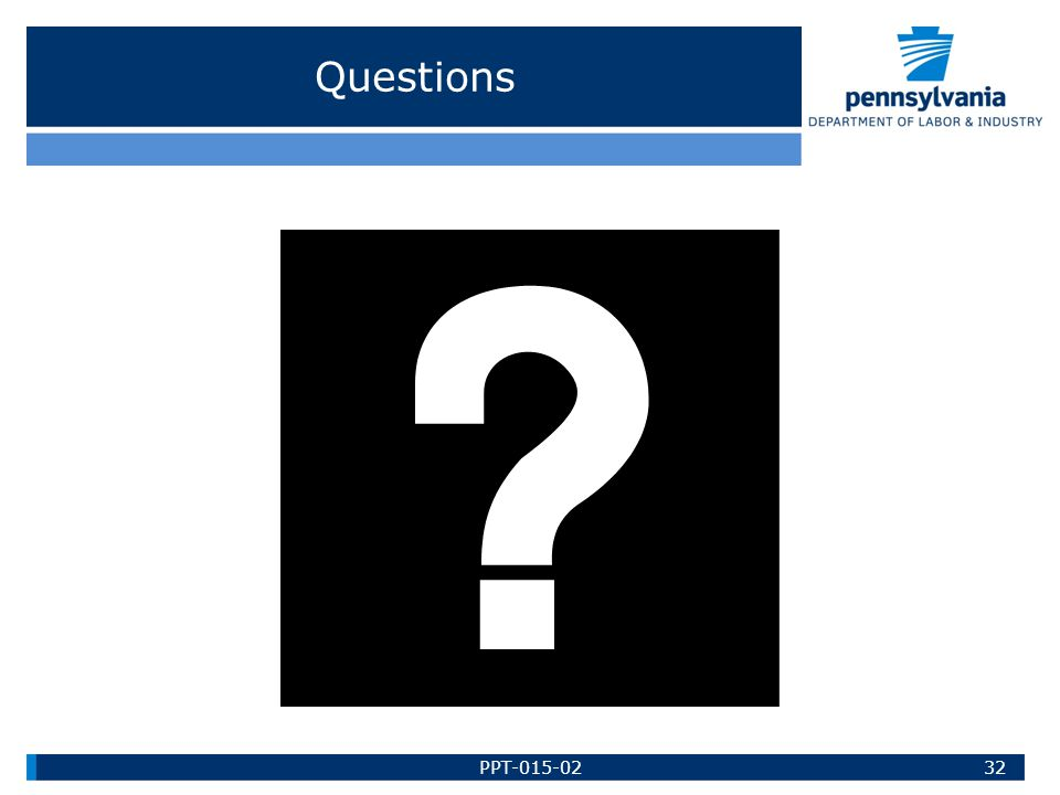 Questions 32PPT-015-02