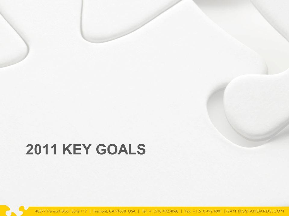 2011 KEY GOALS