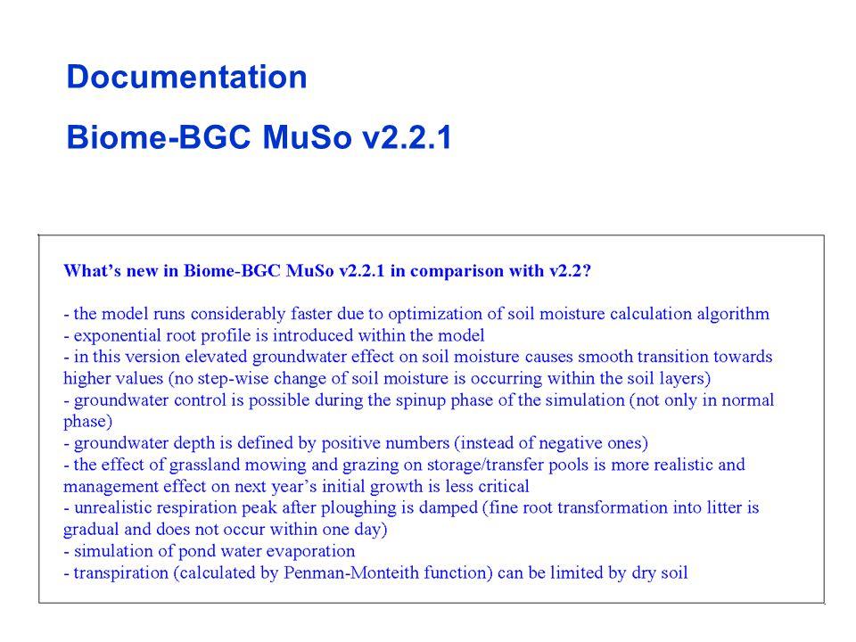 Biome-BGC MuSo v2.2.1