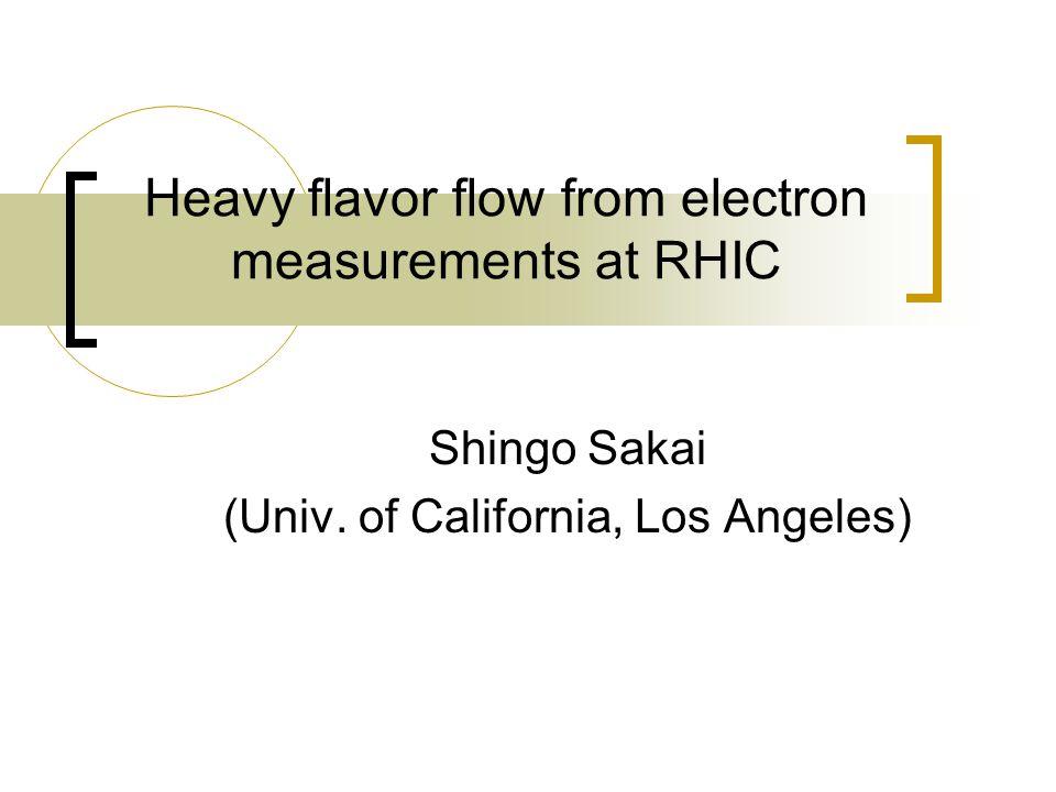 Outline Introduction Non-photonic e v 2 measurement Non-photonic e v 2 D meson v 2 Charm v 2 Outlook (B decay)