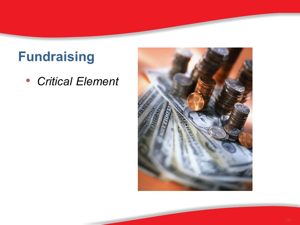 Fundraising Critical Element 15