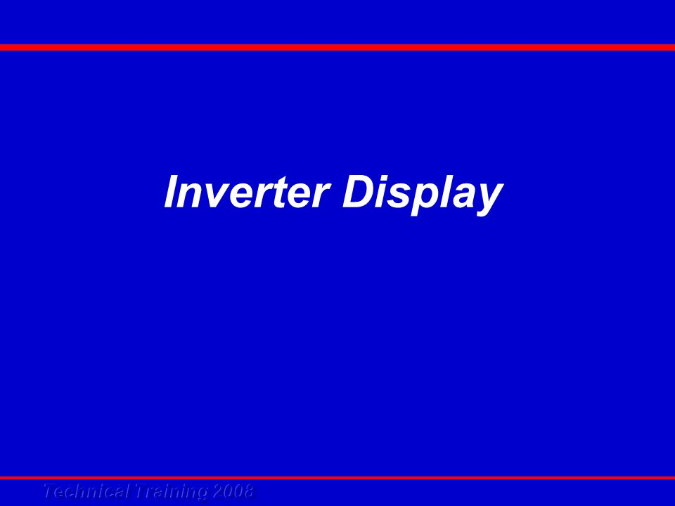 Inverter Display