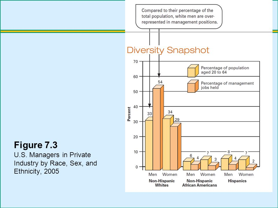 Figure 7.3 U.S. Managers in Private Industry by Race, Sex, and Ethnicity, 2005