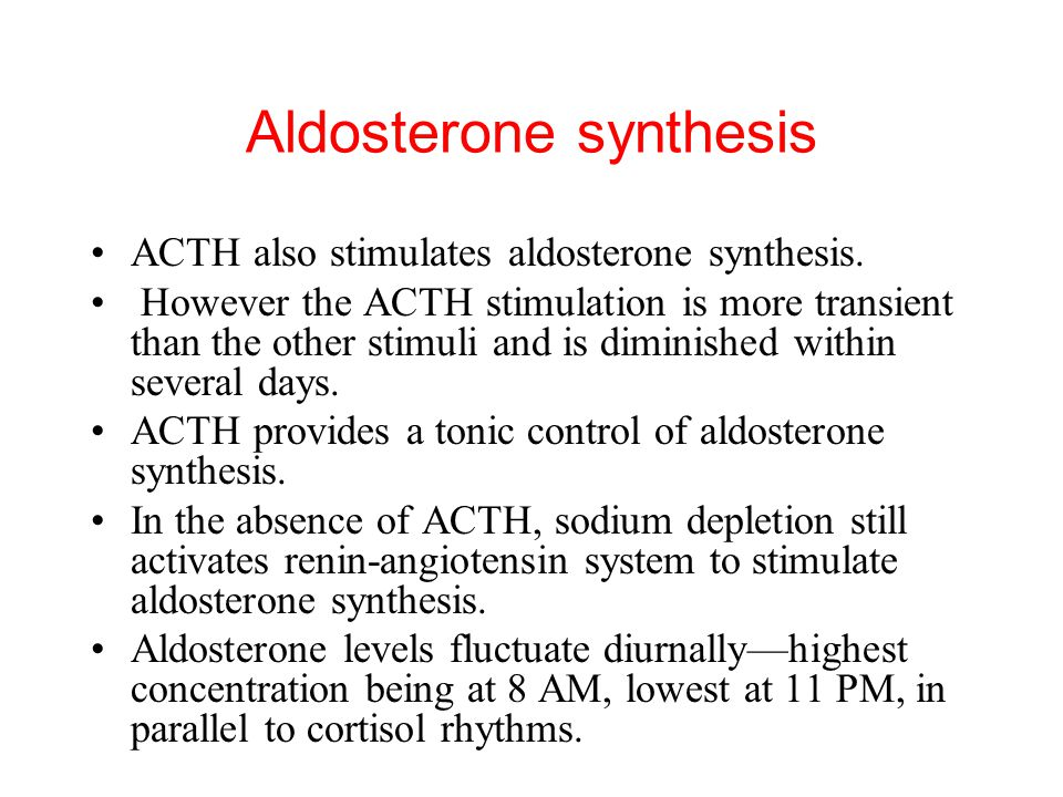 ACTH also stimulates aldosterone synthesis.