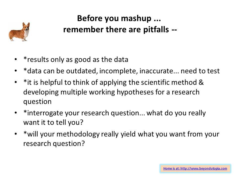 Before you mashup...