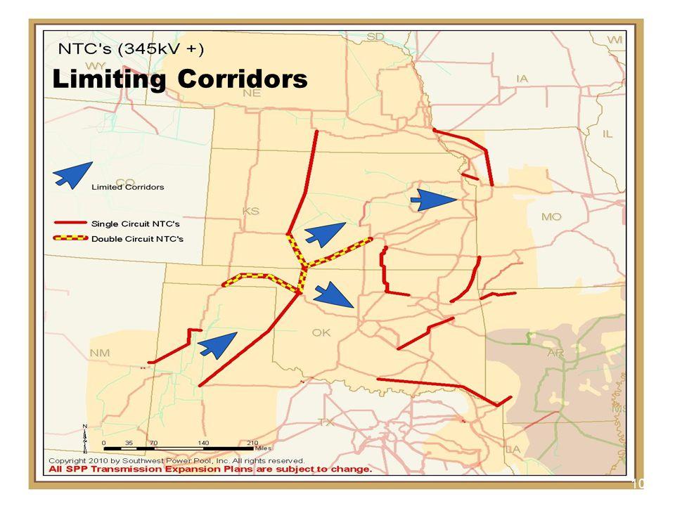 SPP.org 10 Limiting Corridors