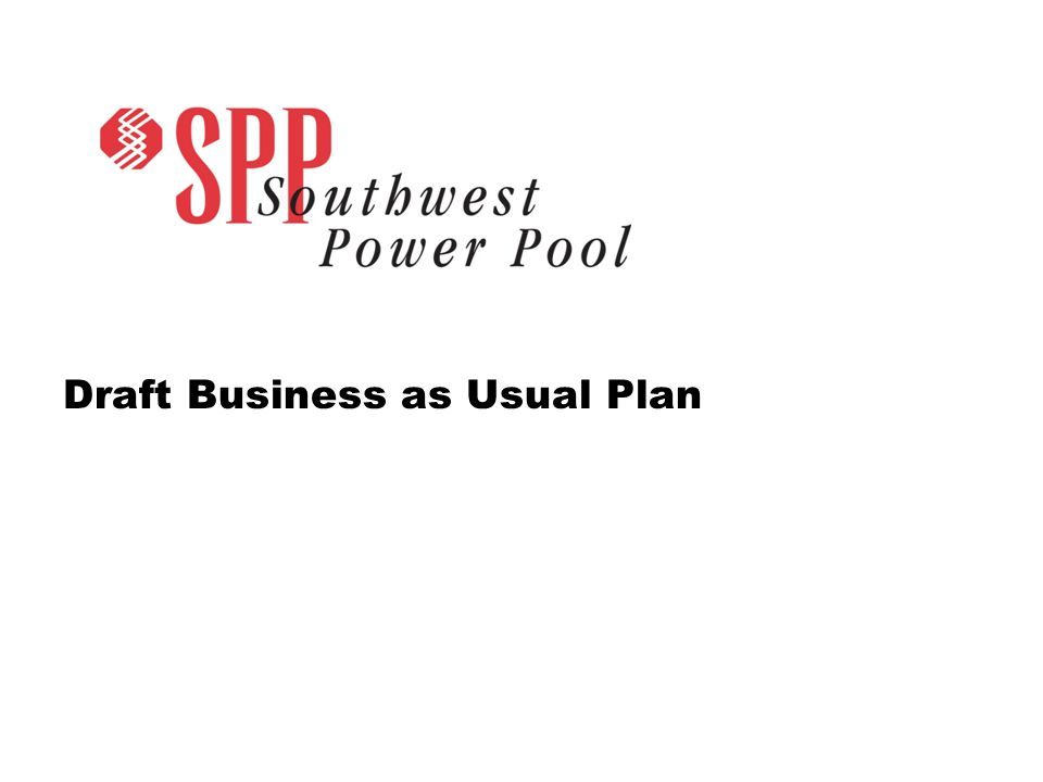SPP.org 13 Business as Usual Least-Cost Plan