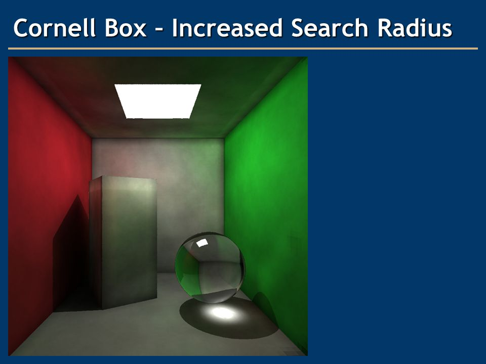 Cornell Box – Increased Search Radius