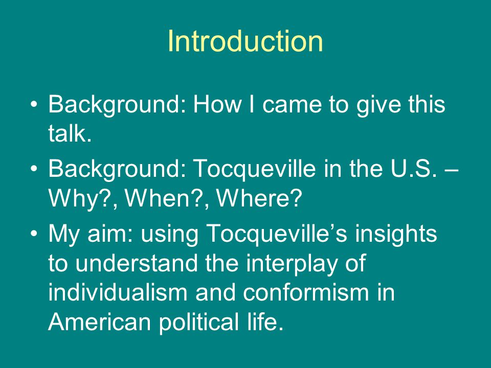 Introduction Background: How I came to give this talk.