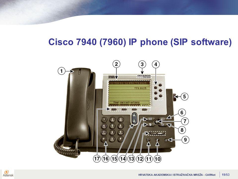 19/53 Cisco 7940 (7960) IP phone (SIP software)