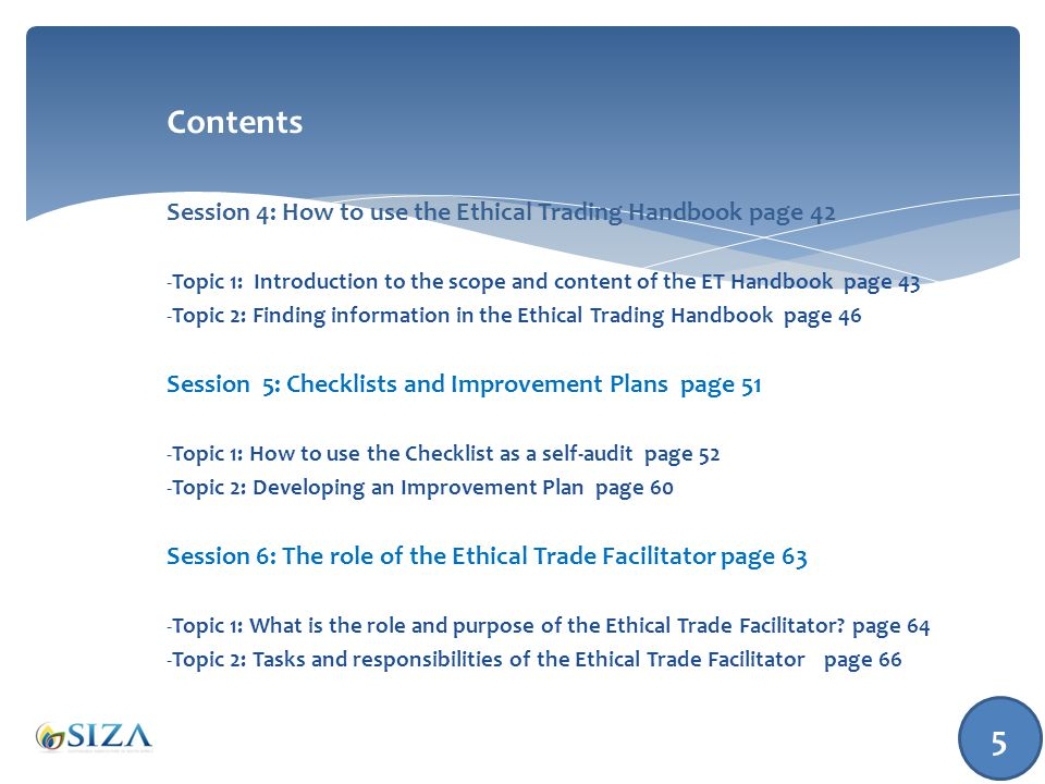 Topic 2: Finding information in the Handbook 46