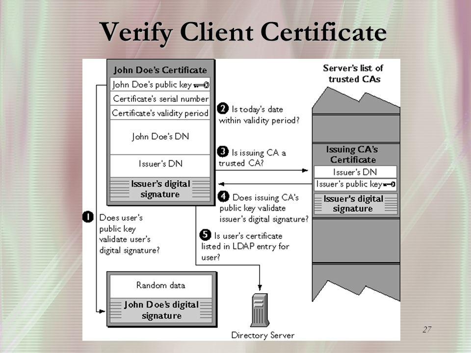 27 Verify Client Certificate