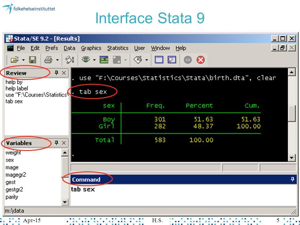 Apr-15H.S.5Apr-15H.S.5 Interface Stata 9