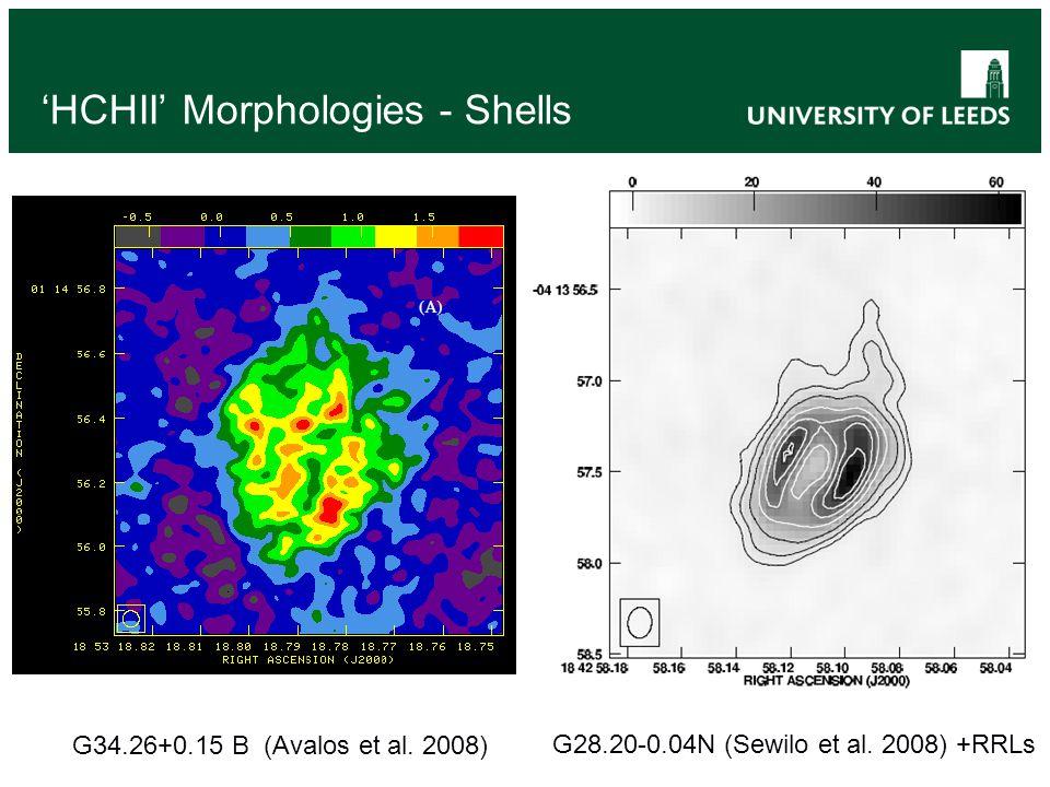 'HCHII' Morphologies - Shells G28.20-0.04N (Sewilo et al.