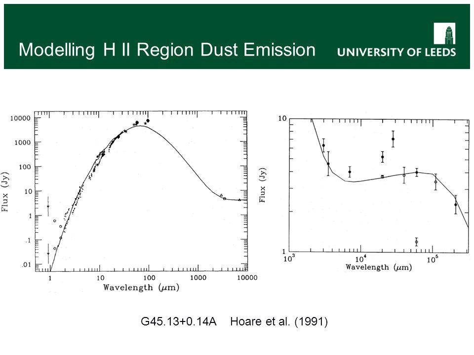 Modelling H II Region Dust Emission G45.13+0.14A Hoare et al. (1991)