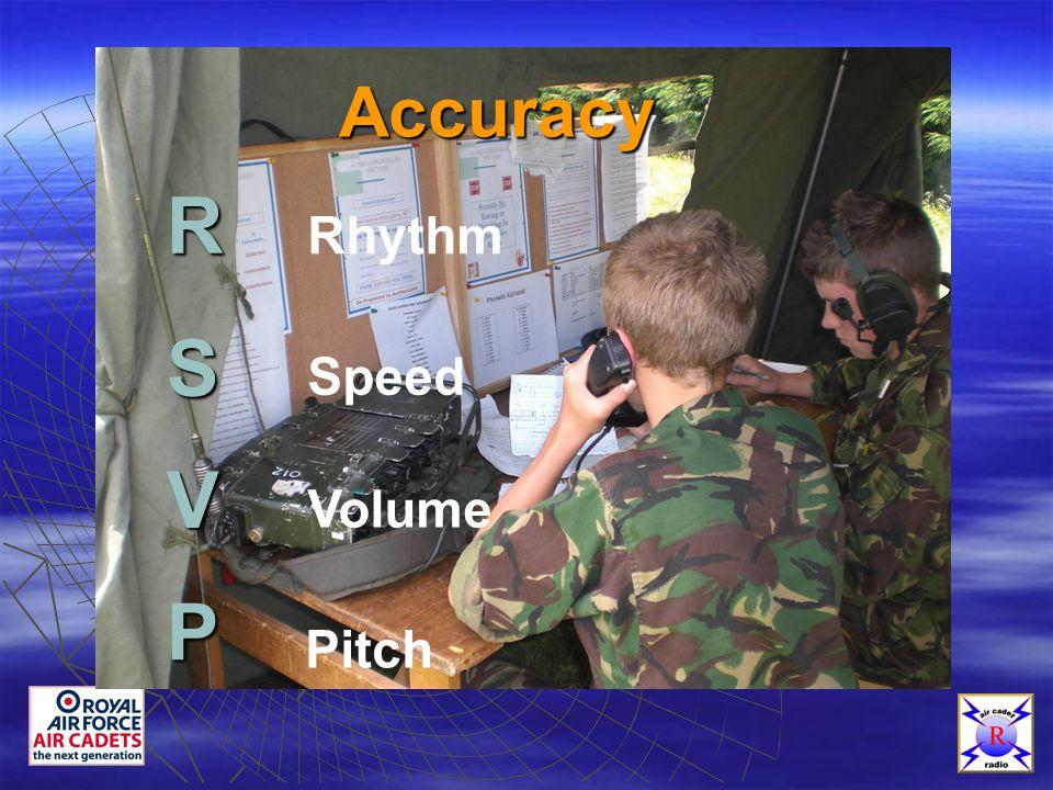 Accuracy Rhythm Speed Volume Pitch S V P R