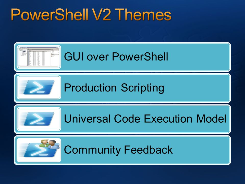 GUI over PowerShell Production Scripting Universal Code Execution Model Community Feedback