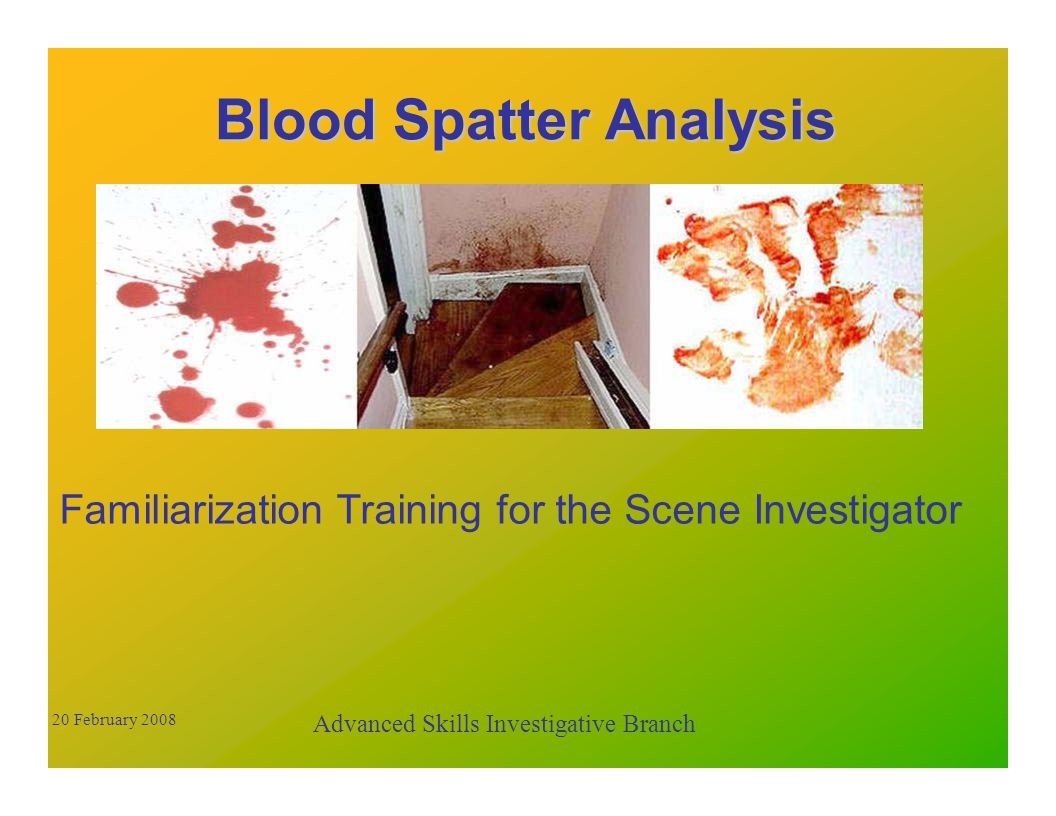 What can blood stains tell us.