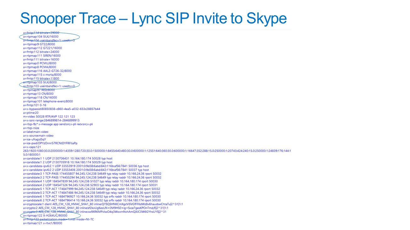 Snooper Trace – Lync SIP Invite to Skype