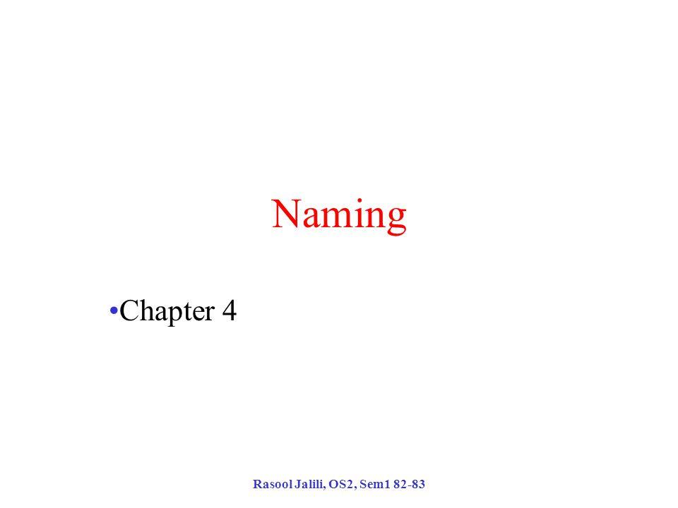 Rasool Jalili, OS2, Sem1 82-83 Naming Chapter 4