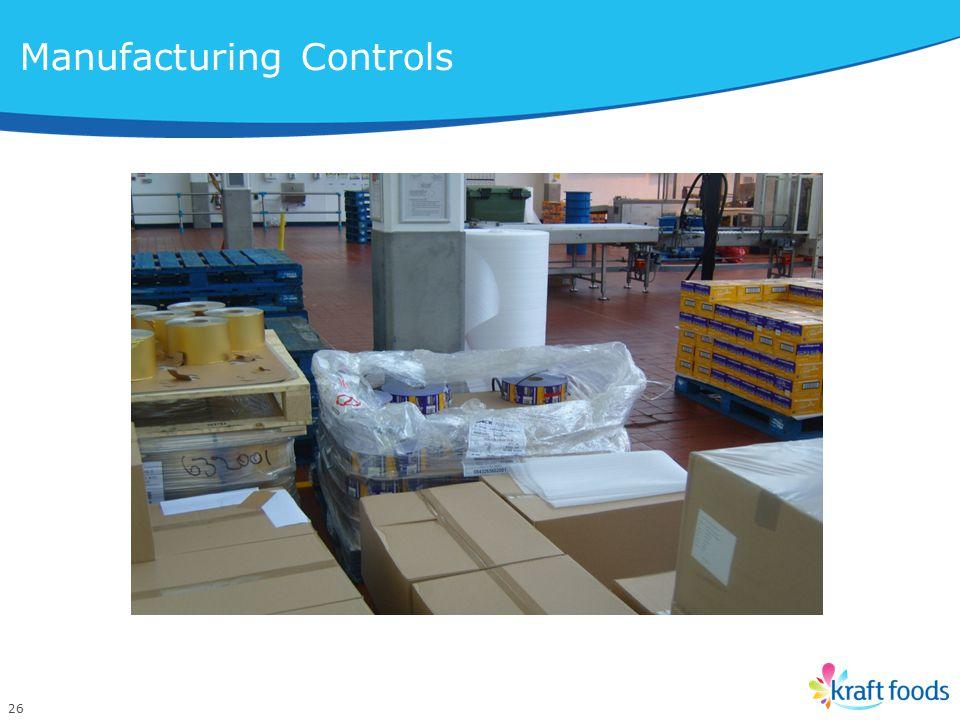 26 Manufacturing Controls