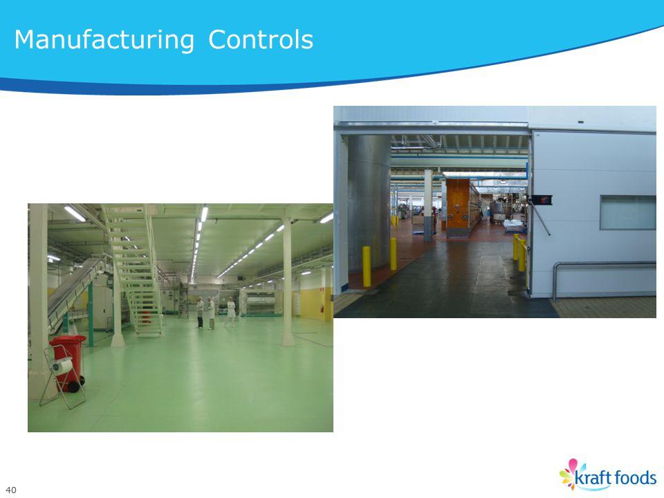 40 Manufacturing Controls