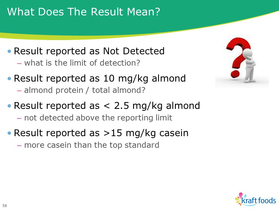 What Does The Result Mean.Result reported as Not Detected – what is the limit of detection.