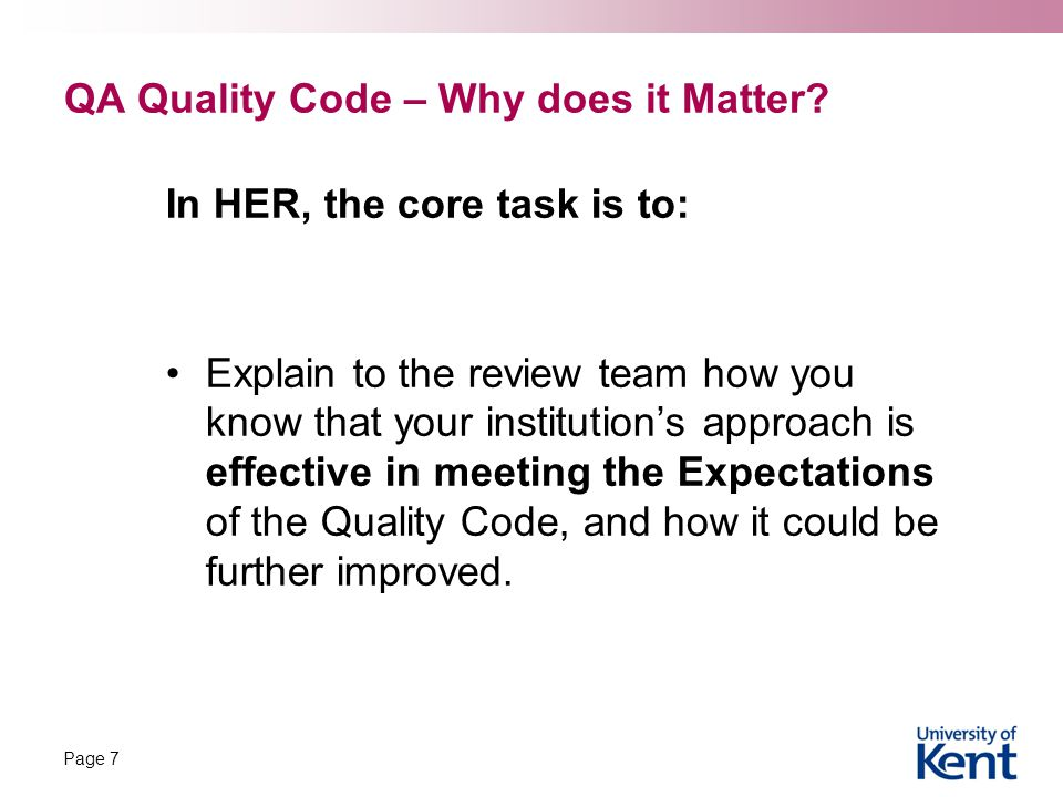 QA Quality Code – Why does it Matter.