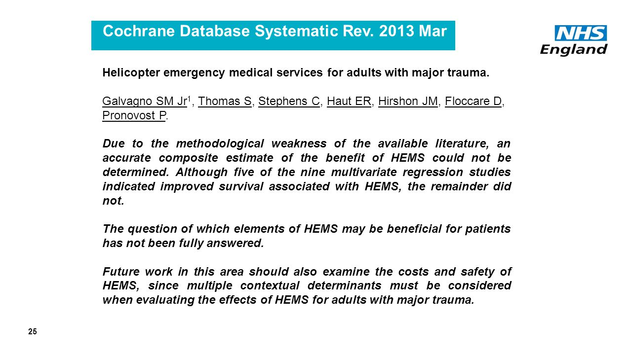 Cochrane Database Systematic Rev.