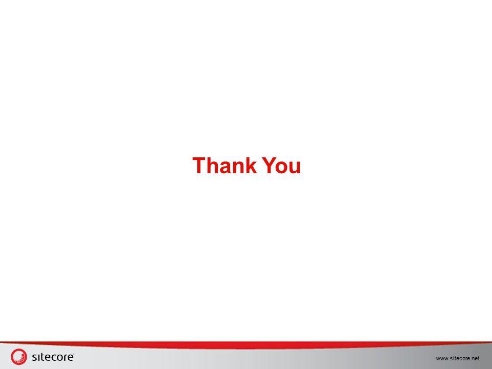 www.sitecore.net Thank You