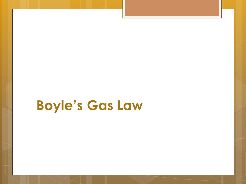 Boyle's Gas Law