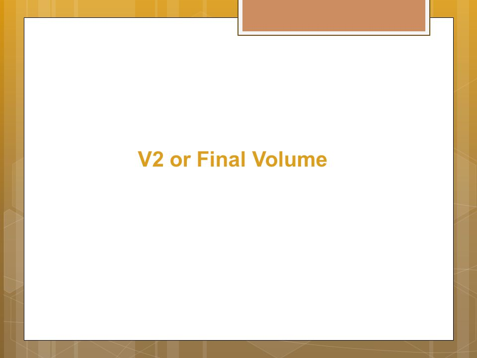 V2 or Final Volume
