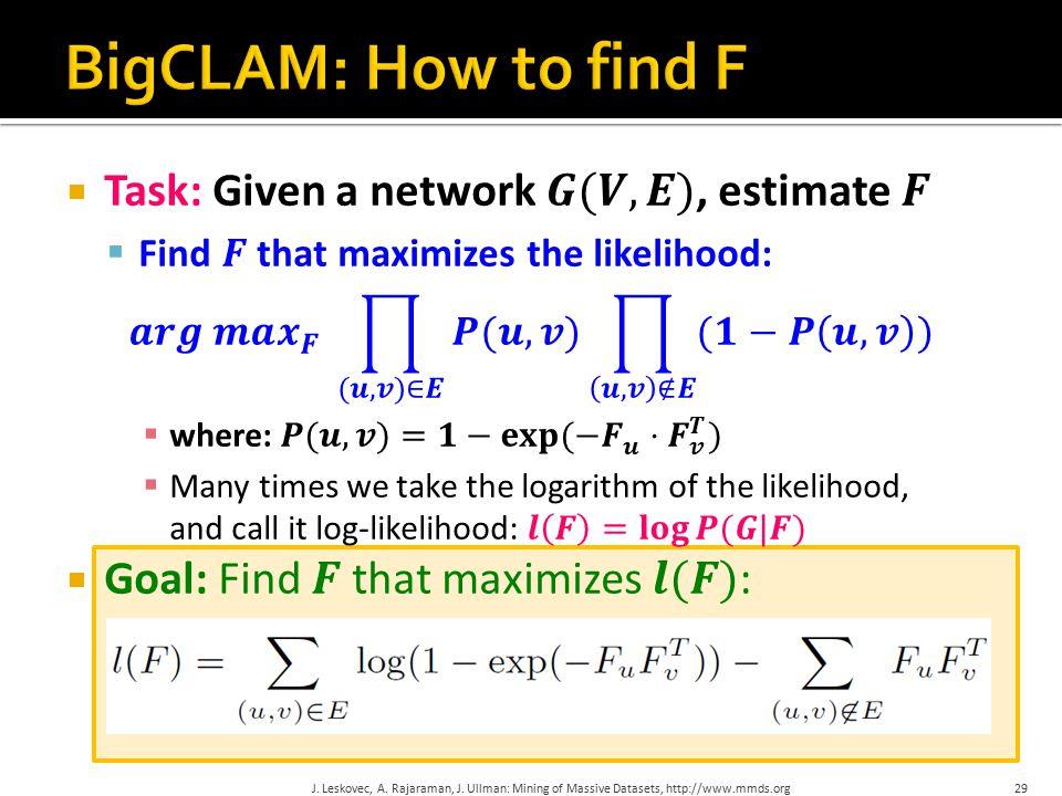 29J. Leskovec, A. Rajaraman, J. Ullman: Mining of Massive Datasets, http://www.mmds.org