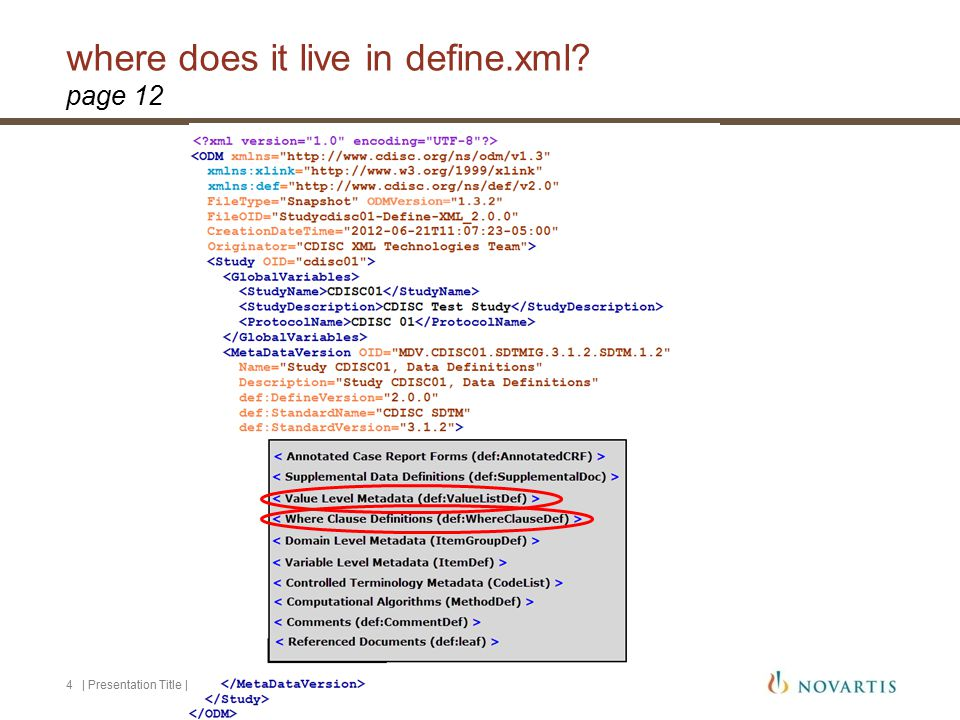 where does it live in define.xml.